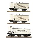 Fleischmann 538101 - DRG 3-tlg Güterwagenset...