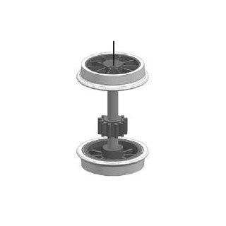 ROCO 141923 - Spur H0 Radsatz mit Zahnrad ohne Haftreifen für ÖBB 1041