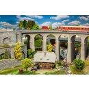 Faller 120466 - 1:87 Viadukt-Set, 2-gleisig, gebogen