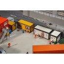 Faller 130136 - 1:87 4 Baucontainer, gelb-schwarz /...