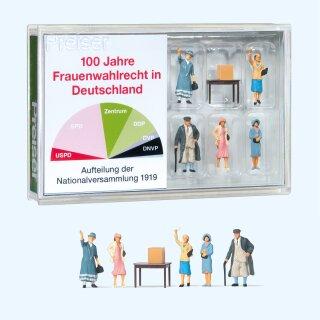 """Preiser 13402 - Figurensatz Sonderfertigung 1:87 """"100 Jahre Frauenwahlrecht in Deutschland"""""""