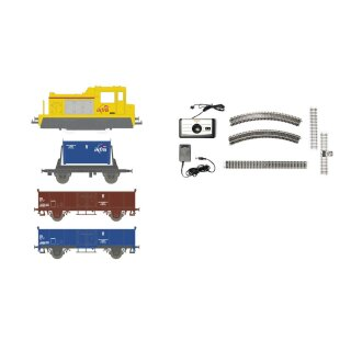 Jouef HJ1062 -- Spur H0 SNCF analoges Startset m.2-achs.Diesellok und 3 Wagen *alter Preis*