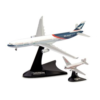 Herpa 562089 - 1:400 Cathay Pacific Airways Set Douglas DC-3 / Airbus A330-300 Niki + Progress Hong Kong