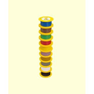 Brawa 3111 - Litze 0,14 mm², 100 m Spule, gelb