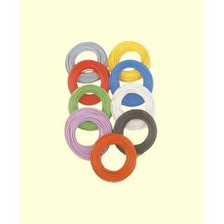 Brawa 32401 - Decoderlitze 0,05 mm², 10 m Ring, gelb