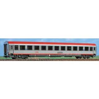 ACME 52615 - Spur H0 2. Klasse Wagen der ÖBB, Typ Bmz, Lackierung in zwei Grautönen und roter Streifen und rotes Dach, andere Nummer