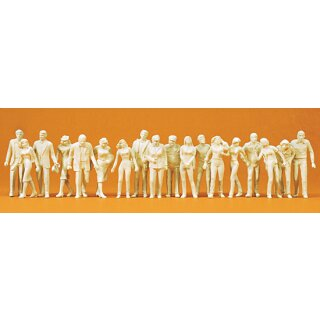 "Preiser 65601 - Figurensatz unbemalter Bausatz 1:43/1:45 ""Passanten. 18 unbemalte Figur"""