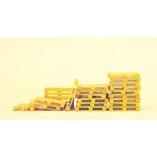 """Preiser 65801 - Zubehör unbemalter Bausatz 1:43/1:45 """"Paletten. Bausatz"""""""