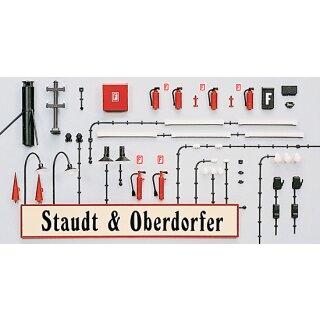 """Preiser 65807 - Zubehör unbemalter Bausatz 1:43/1:45 """"Gebäudezubehör. Bausatz"""""""