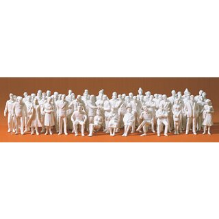 "Preiser 68290 - Figurensatz unbemalter Bausatz 1:50 ""60 unbemalte Figuren. Bausatz"""