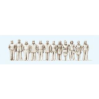 """Preiser 68291 - Figurensatz unbemalter Bausatz 1:50 """"Stehende Frauen und Männer. 1"""""""