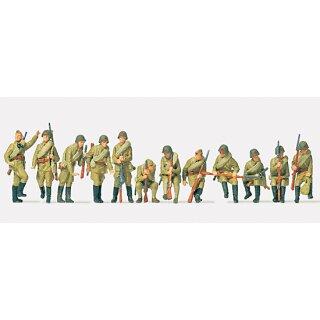 """Preiser 72525 - military unbemalter Bausatz 1:72 """"Infanterie, aufgesessen. UdSS"""""""