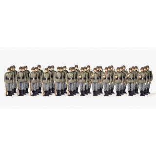 """Preiser 72533 - military unbemalter Bausatz 1:72 """"Infanterie angetreten. Deutsc"""""""