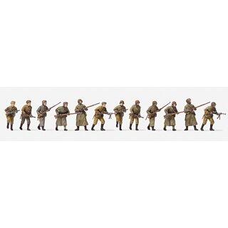 "Preiser 72540 - military unbemalter Bausatz 1:72 ""Angreifende Infanterie. Winte"""