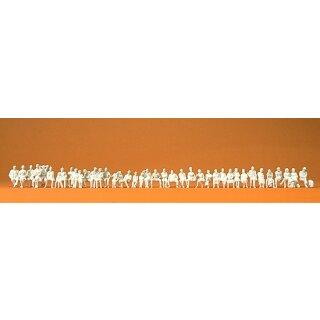 """Preiser 75101 - Figurensatz unbemalter Bausatz 1:120 """"Sitzende Reisende. 39 unbemal"""""""