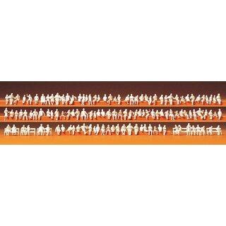 "Preiser 79007 - Figurensatz unbemalter Bausatz 1:160 ""Sitzende Personen. 120 unbema"""