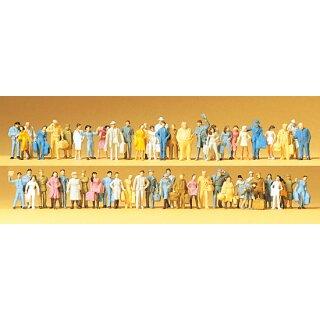 "Preiser 79251 - Figurensatz Großpackung 1:160 ""Reisende, Passanten. 60 Figur"""