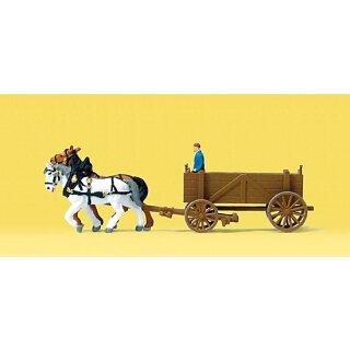 """Preiser 79475 - Gespanne/Traktoren 1:160 """"Kastenwagen"""""""