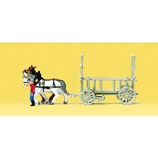 """Preiser 79476 - Gespanne/Traktoren 1:160 """"Leiterwagen"""""""