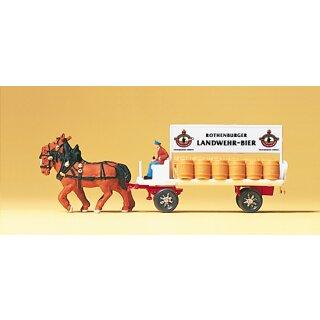 """Preiser 79478 - Gespanne/Traktoren 1:160 """"Brauereiwagen"""""""