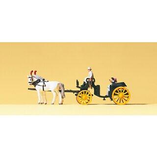 """Preiser 79481 - Gespanne/Traktoren 1:160 """"Droschke offen"""""""