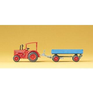"""Preiser 79502 - Gespanne/Traktoren 1:160 """"Hanomag-Schlepper mit Anhänge"""""""