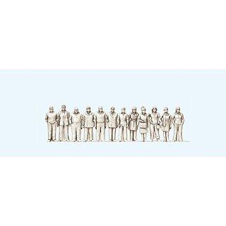 """Preiser 80991 - Figurensatz unbemalter Bausatz 1:200 """"Stehende Frauen und Männer"""""""