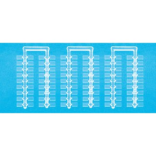 Preiser 97001 - Sockel, glasklar. 7 x 5 mm. 1