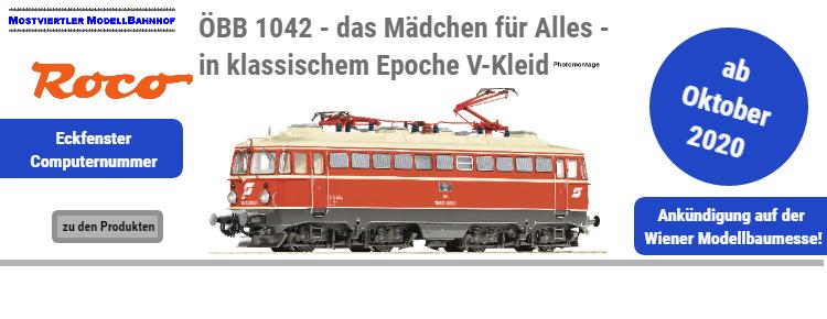 Messe-Sondermodell ROCO ÖBB 1042 in Ep.V