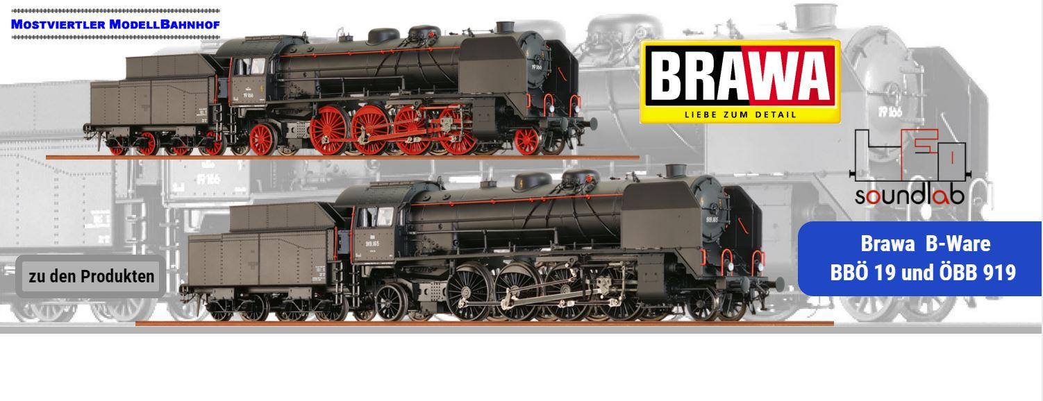 Brawa BBÖ 19 und ÖBB 919 als B-Ware