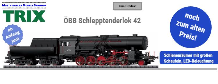 Trix ÖBB Schlepptenderlok 42 mit Wannentender