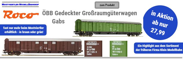 ÖBB Gedeckte Güterwagen Gabs in Aktion