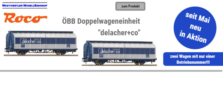 "ROCO Doppelwagen ""delacher+co"""
