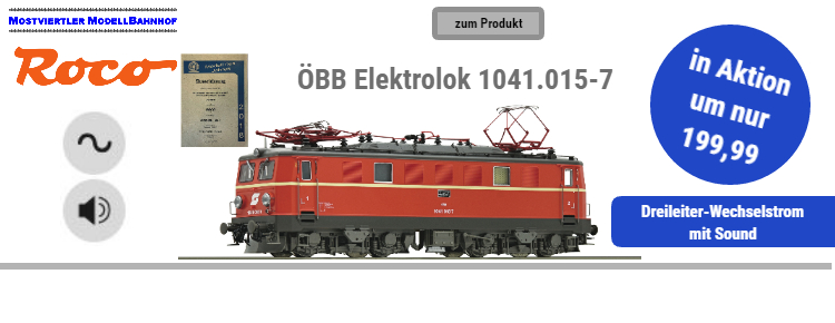 ROCO ÖBB Elektrolok 1041.015-7 in Aktion