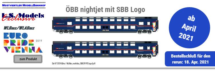 ÖBB nightjet Doppelstockwagen-Set